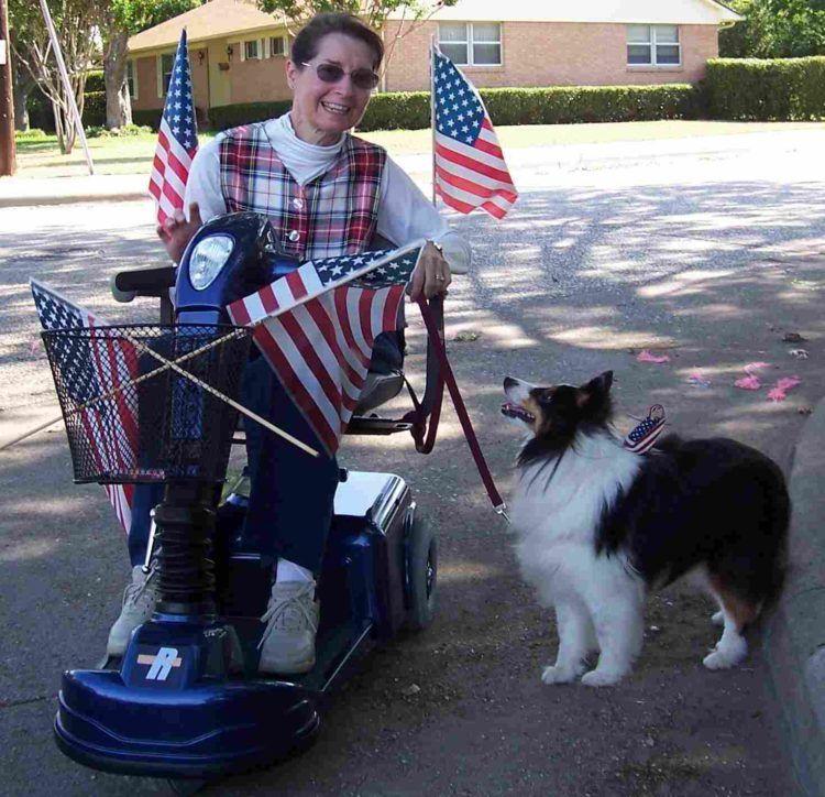 Dog whispering with service dog Kati